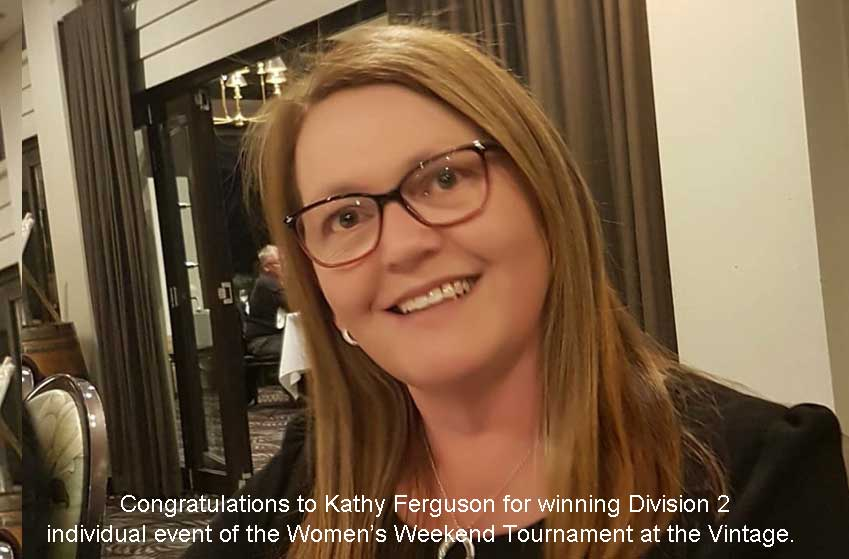 Kathy Ferguson for winning Division 2 individual event