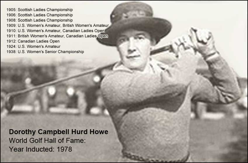 Dorothy Campbell won the first of her three U.S. Women's Am titles in 1909