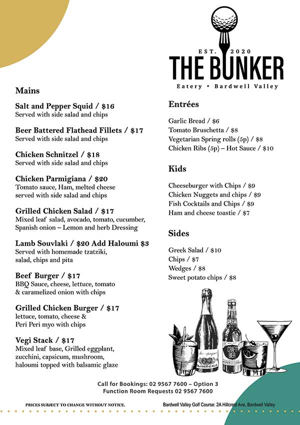 bunker-sample-menu